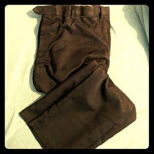 40w x 29l expanable waist black dress pants